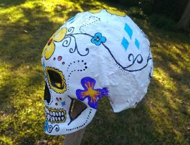Day of the Dead mask art