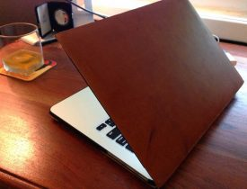 Custom leather laptop skin